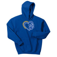 Bulldogs Heart - Youth Heavy Blend™ Hooded Sweatshirt Thumbnail