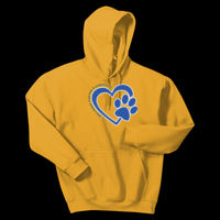 Bulldogs Heart - Adult Heavy Blend ™ Hooded Sweatshirt Thumbnail