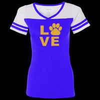 Bulldog Glitter - Women's Powder Puff T-Shirt Thumbnail