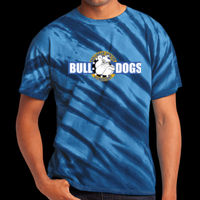 Bulldogs  - Adult Tiger Stripe Tie Dye Tee Thumbnail