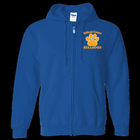 Bulldogs Embroidered - Adult Heavy Blend™ Full Zip Hooded Sweatshirt Thumbnail