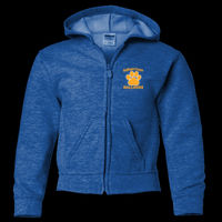 Bulldogs Embroidered - Youth Heavy Blend ™ Full Zip Hooded Sweatshirt Thumbnail