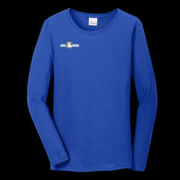 Bulldogs - Ladies Heavy Cotton ™ 100% Cotton Long Sleeve T Shirt Thumbnail