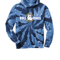 Bulldogs - Adult Tie Dye Pullover Hooded Sweatshirt Thumbnail
