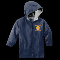Bulldogs Embroidered - Youth Bulldogs Embroidered - Water Resistant Hooded Team Jacket Thumbnail